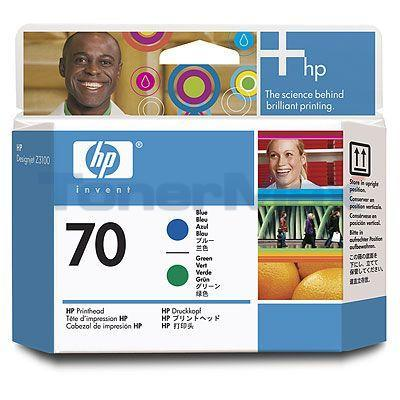 HP DESIGNJET Z3100 NO 70 PRINTHEAD BLUE AND GREEN